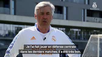 """Image d'aperçu pour Real Madrid - Ancelotti : """"Alaba, un joueur complet et très intelligent"""""""