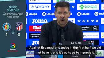 Preview image for 'Atletico lack intensity and have to improve' - Simeone