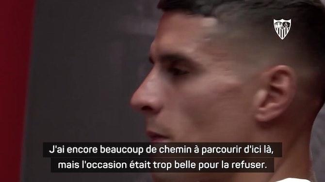 """Image d'aperçu pour Séville - Lamela : """"Je voulais jouer en Liga avant la fin de ma carrière"""""""