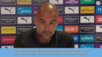"""Imagem de visualização para Guardiola diz que espera apoio da torcida contra o Southampton: """"estarão lá"""""""