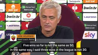 Preview image for Mourinho loses cool with translators during Roma press conference