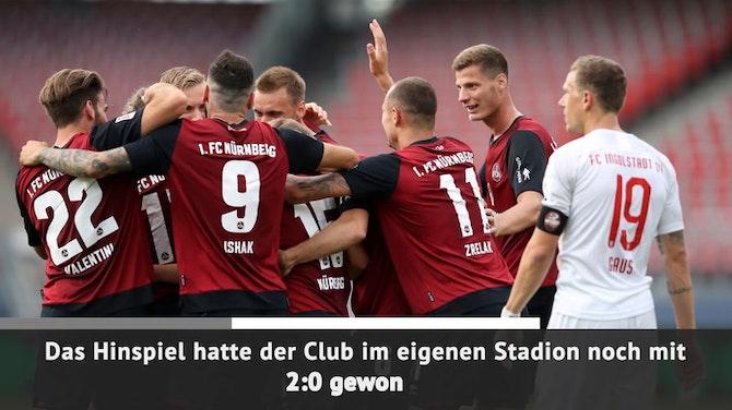 Vorschaubild für Kurz vor Schluss! Nürnberg rettet sich gegen FCI