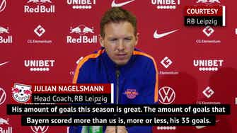 Preview image for Nagelsmann wary of 'world-class' Bayern without 'extraordinary' Lewandowski