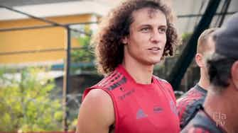 Preview image for David Luiz's first training session with Flamengo