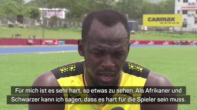 Vorschaubild für Bolt verärgert über Rassismus im Fußball