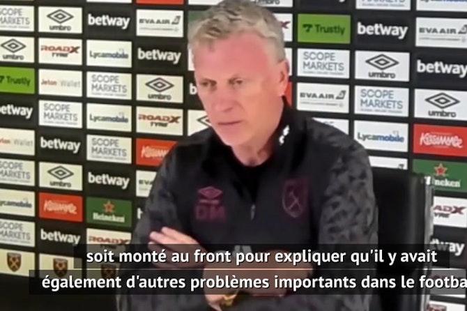 """Super Ligue - Moyes : """"Les fans et les joueurs de football défendent de belles causes"""""""