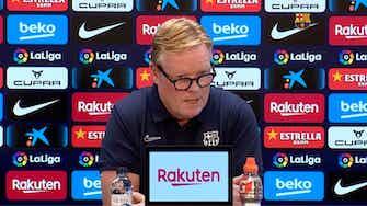Vorschaubild für Bizarrer PK-Auftritt: Barça-Coach Koeman liest nur Statement vor