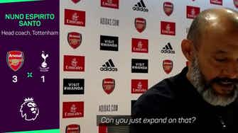 Preview image for Nuno accepts blame for Spurs north London derby collapse