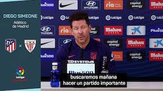 """Imagen de vista previa para Simeone: """"El Athletic es posiblemente uno de los equipos más en forma de La Liga"""""""