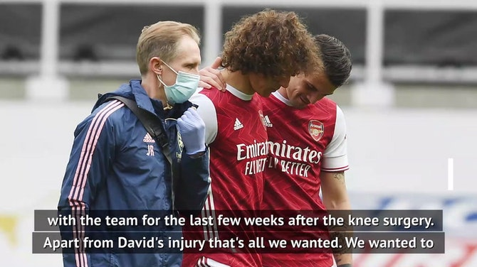 Preview image for Luiz injury only disappointment for Arteta in Arsenal's Newcastle win