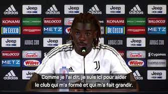 """Image d'aperçu pour Juventus - Kean : """"Ce n'est pas un poids de remplacer Cristiano"""""""