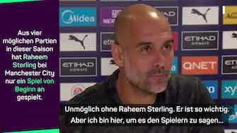 """Vorschaubild für Guardiola: """"Erfolg ohne Sterling ist unmöglich"""""""