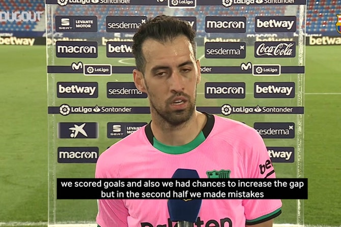 Sergio Busquets: 'We let in easy goals'