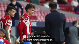 Preview image for  Simeone urges improvement from Griezmann