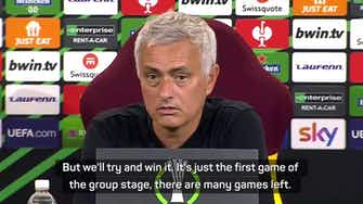 Preview image for Mourinho insists he wants to win the Europa Conference League