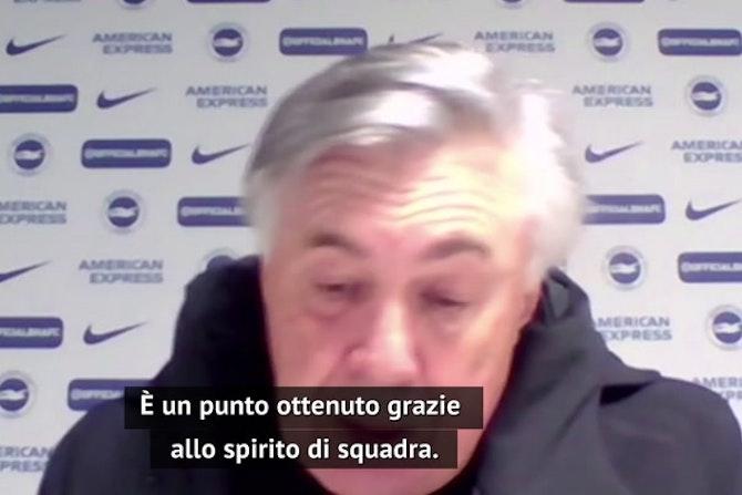 """Ancelotti ammette: """"Più complicato arrivare quarti"""""""