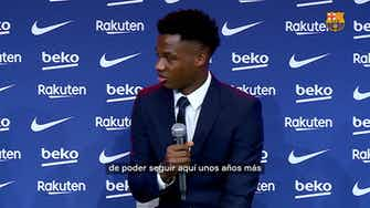 """Imagen de vista previa para Ansu Fati: """"Triunfar en el Barça siempre ha sido mi sueño"""""""