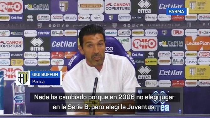 """Imagen de vista previa para Buffon es presentado con el Parma a sus 43 años: """"Mi vida es esto"""""""