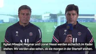 """Vorschaubild für Pochettino: """"Messi freut sich auf sein Debüt"""""""