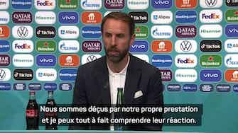 """Image d'aperçu pour Groupe D - Southgate : """"Je peux comprendre la réaction de nos fans"""""""