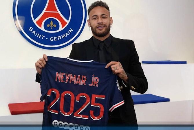 Neymar renueva con el PSG hasta 2025