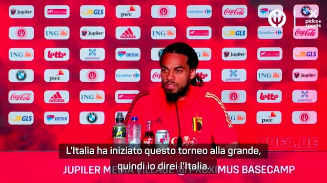 """Belgio, Denayer: """"Italia favorita, è partita alla grande"""""""