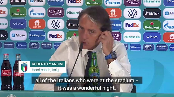 Mancini 'delighted to make Italians smile' after dominant Turkey win