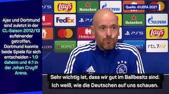 Vorschaubild für Ajax-Coach Ten Hag: So neutralisieren wir den BVB