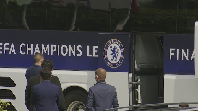 Chelsea leave team hotel in Porto victorious