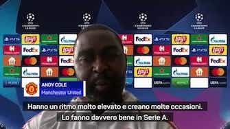"""Anteprima immagine per Andy Cole: """"Occhio United, con l'Atalanta sarà dura"""""""