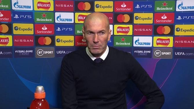 """Imagen de vista previa para Zidane, en titulares: """"Estoy orgulloso de mis jugadores"""""""
