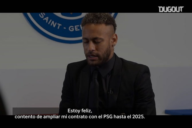 Las palabras de Neymar tras renovar con el PSG