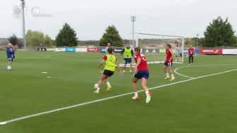Imagen de vista previa para Aitana Bonmatí impresiona en el entrenamiento de España