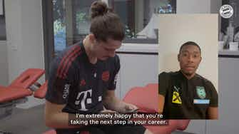 Preview image for David Alaba sends greetings to Marcel Sabitzer