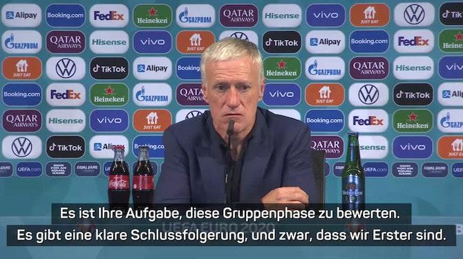 """Vorschaubild für Deschamps: Sieg gegen DFB-Team """"sehr wichtig"""""""