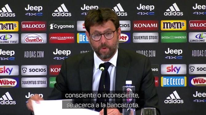 """Agnelli acusa a la UEFA por la Superliga: """"Métodos arrogantes"""""""