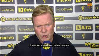 Preview image for Ronald Koeman: 'If you don't score, you can't win.'