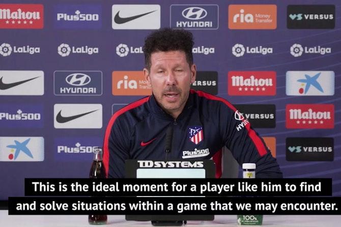 Simeone says Atletico Madrid are entering into 'Suarez Territory'