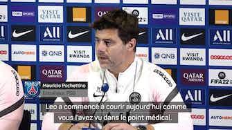 """Image d'aperçu pour 8e j. - Pochettino : """"Messi absent pour Montpellier, peut-être là pour City"""""""