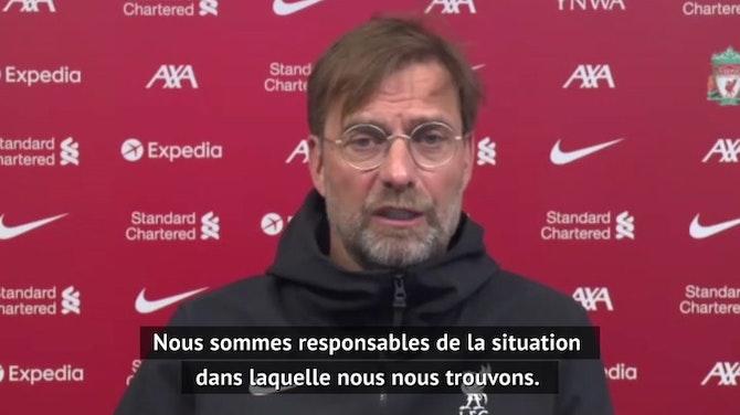 """35e j. - Klopp : """"Nous Nous avons encore une chance de nous qualifier en C1"""""""