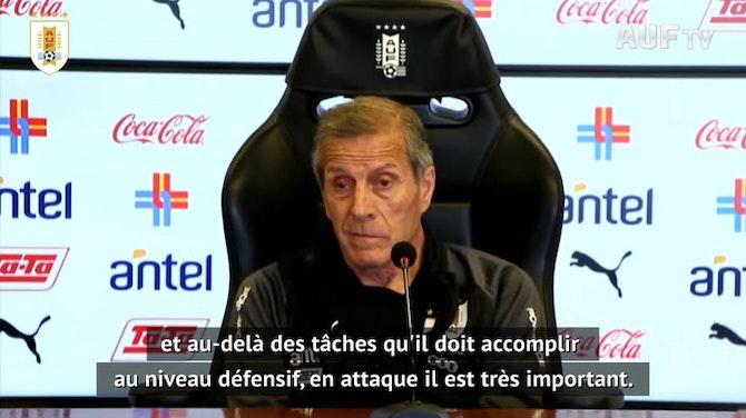 """Image d'aperçu pour Uruguay - L'absence de Neymar, un """"soulagement"""" pour Tabárez"""