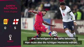 """Vorschaubild für Southgate über Sancho: """"Menge zu verarbeiten"""""""