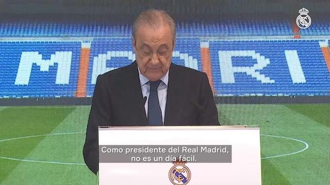 Florentino Pérez: 'Gracias por todo, Sergio'