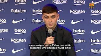 """Imagem de visualização para Pedri se diz feliz em renovar com Barcelona: """"espero ficar muito mais anos do que 2026"""""""