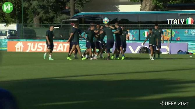 Italien bereitet sich auf das Spiel gegen die Schweiz vor