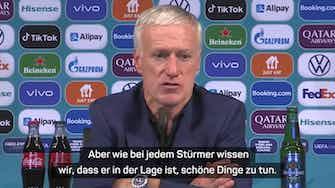 """Vorschaubild für  Deschamps: """"Gibt keine Zweifel an Benzema"""""""