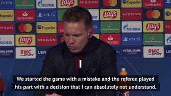 Preview image for Nagelsmann fumes over penalty in Leipzig defeat to PSG