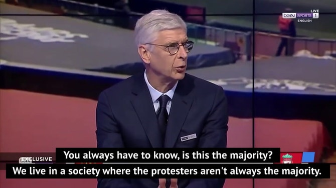 Wenger rails against influence of money in football after fan protest