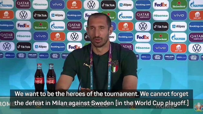 Time for Italy to be heroes again - defender Chiellini