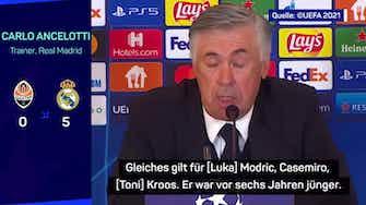 Vorschaubild für Ancelotti lobt Führungsstil von Kroos und Benzema